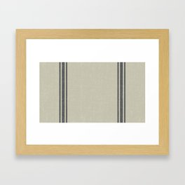Grey on Linen King sham Framed Art Print