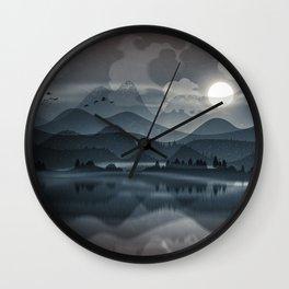 Silver Sun Wall Clock