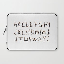 Yoga Alphabet Laptop Sleeve