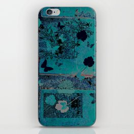 butterflies_I turquoise iPhone Skin