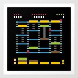 Minimal NES: Burger Time Art Print