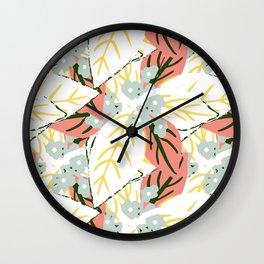 Leaves Pattern Wall Clock
