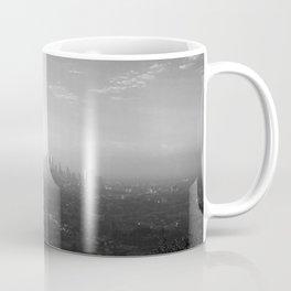 Los Angeles. L.A. Skyline. Black and White. Jodilynpaintings. Sunrise. Sunset. Cityscape. California Coffee Mug