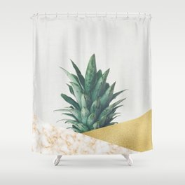 Pineapple Dip VII Shower Curtain