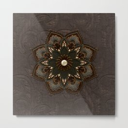 Steampunk, beautiful mandala Metal Print