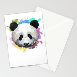 Colorful Panda Stationery Cards
