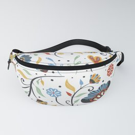 Organic Abstract Floral #025 Fanny Pack
