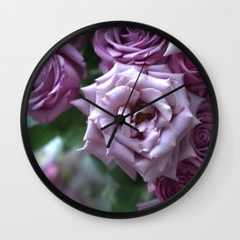 A Rose is a Rose is a Rose... Wall Clock