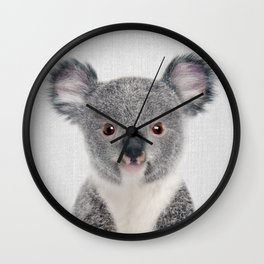 Baby Koala - Colorful Wall Clock