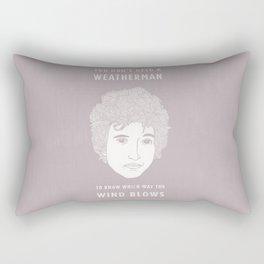 Bob Dylan - You don't need a weather man Rectangular Pillow