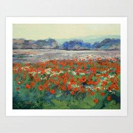 Poppies in Flanders Fields Art Print