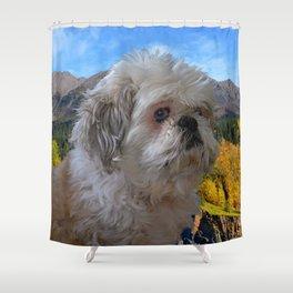 """Denali"" - Lap Dog Shower Curtain"