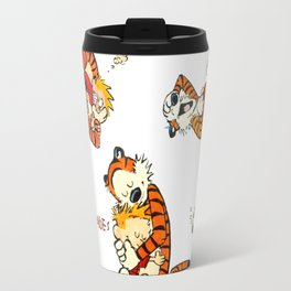 Calvin and Hobbes all moment Travel Mug