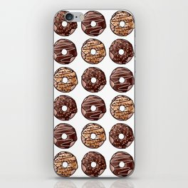 Chocolate Donuts Pattern iPhone Skin