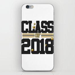 class of 2018 graduation grade senior 2018 new student love art gold hot iPhone Skin