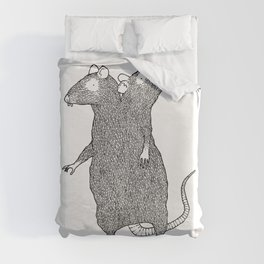 Two Headed Rat, I Love You Duvet Cover