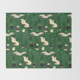 Slytherin Pattern Throw Blanket