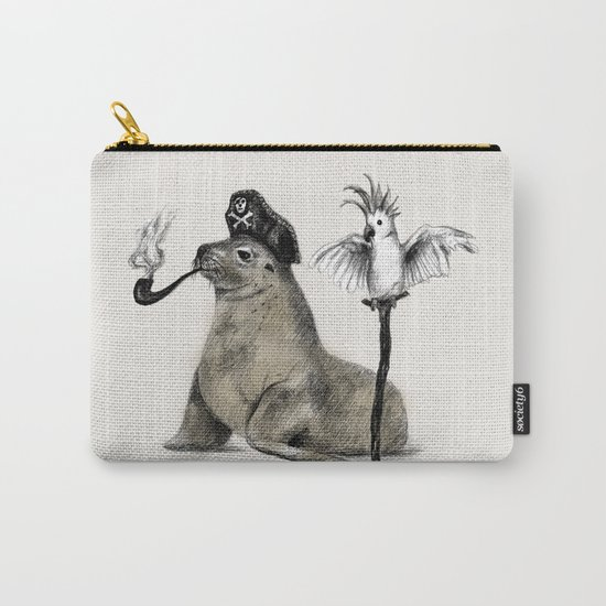 Pirate // seal parrot Carry-All Pouch