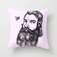gandalf Throw Pillows featuring Yung Gandalf by Jessica Petrylak