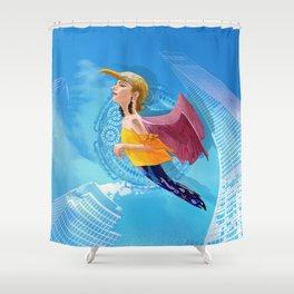Bird woman Shower Curtain