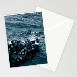 Coastal - Shore off Liberty Island in New York Stationery Cards