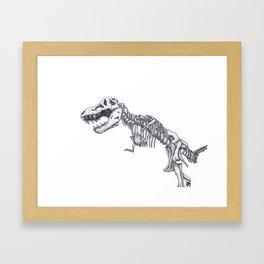 Tyrannosaurus rex skeleton Framed Art Print