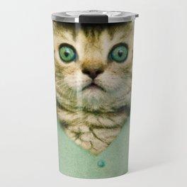 Baseball Kitten #3 Travel Mug