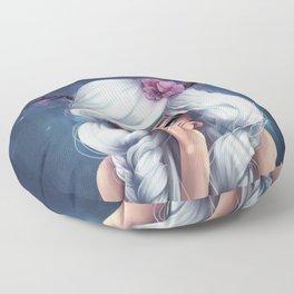 White-haired Girl Floor Pillow