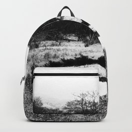 Snow on the hills Backpack