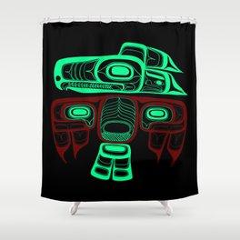 Native American style Tlingit Thunderbird Shower Curtain