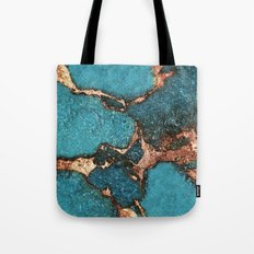 AQUA & GOLD GEMSTONE Tote Bag