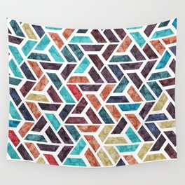 Seamless Colorful Geometric Pattern XVI Wall Tapestry