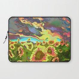 Vibrant Vibrations of Sunset Sunflowers Laptop Sleeve