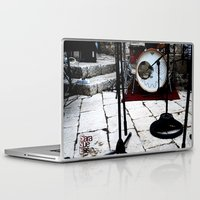 bianca green Laptop & iPad Skins featuring Notte Bianca by Sara Sue Ess