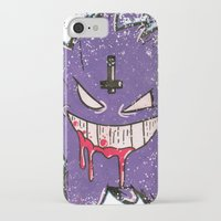 gengar iPhone & iPod Cases featuring Gengar Mega (dark twist) by Oscar Da Chef Karlsson