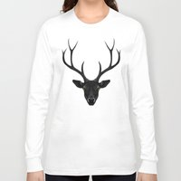 rare Long Sleeve T-shirts featuring The Black Deer by Ruben Ireland