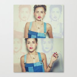 Miley Cyrus x Cigarette  Canvas Print
