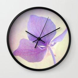Sweet Hydrangea Wall Clock