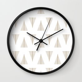 Winter Hoidays Pattern #14 Wall Clock