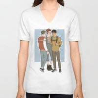 college V-neck T-shirts featuring College AU Zarriall by vulcains