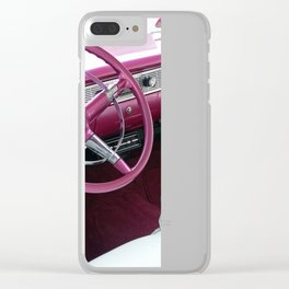Puple Bel Air Clear iPhone Case