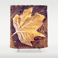 fitzgerald Shower Curtains featuring Autumn Frost by Elke Meister
