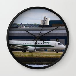 Alitalia  Embraer ERJ-190 London City Airport Wall Clock