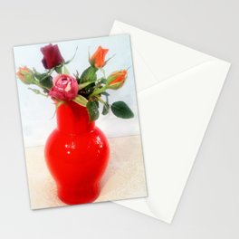 Rose in vaso Venini. Roses in the Venini vase. Stationery Cards