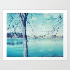 Hunter Valley Gardens Polaroid Art Print