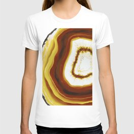 Yellow Gold Agate Geode slice T-shirt