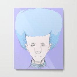 """Hair Ball"" Metal Print"