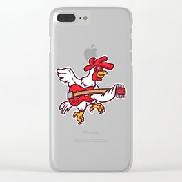 Guitar Rooster Clear iPhone Case