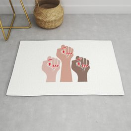 Womens For All Woman Every Kind And Race Fempowerment Power Women Rug