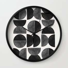 Mid Century, Retro Geometric Art Wall Clock